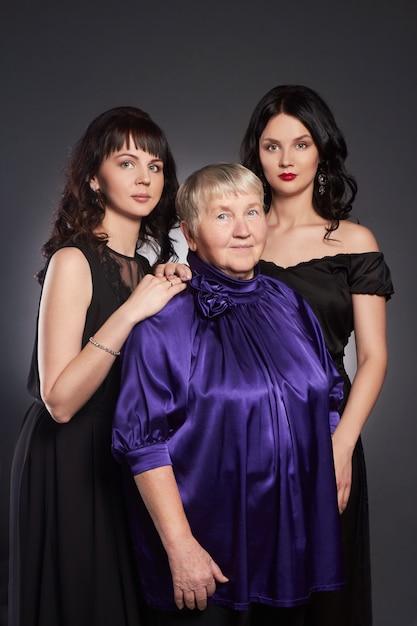 Grande Famille Portrait De Femme Photo Premium
