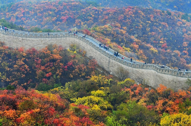 La Grande Muraille De Chine En Automne Photo Premium