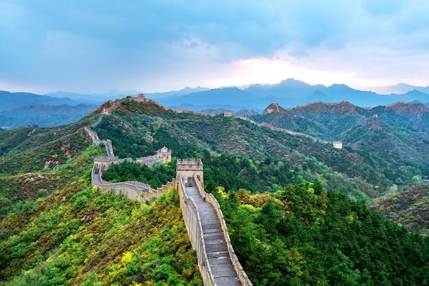 La grande muraille de chine. Photo Premium
