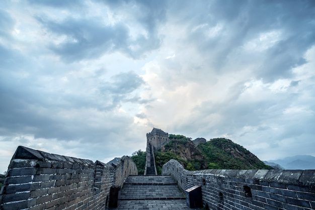 La grande muraille de chine. Photo Premium
