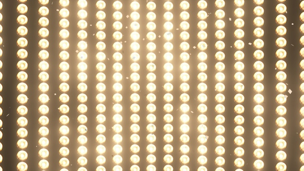 Grandes appliques murales et confettis tombant d'or brillant Photo Premium