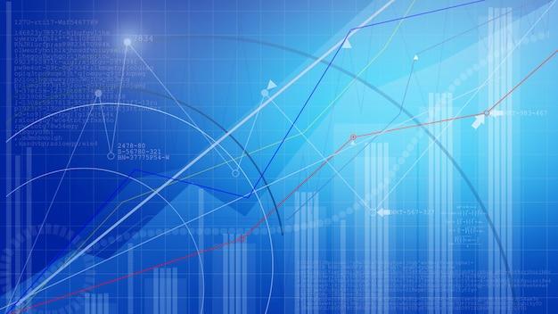 Graphique boursier. fond graphique entreprise. Photo Premium