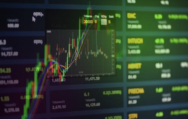 Graphique boursier ou graphique de trading forex Photo Premium