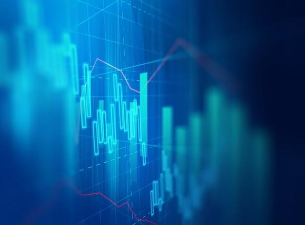 Graphique financier technique sur fond abstrait de technologie Photo Premium