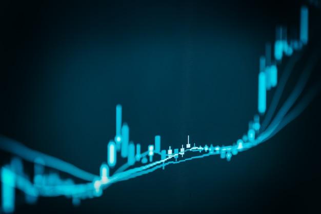 Graphique indiciel de l'analyse des données financières de bourse Photo Premium