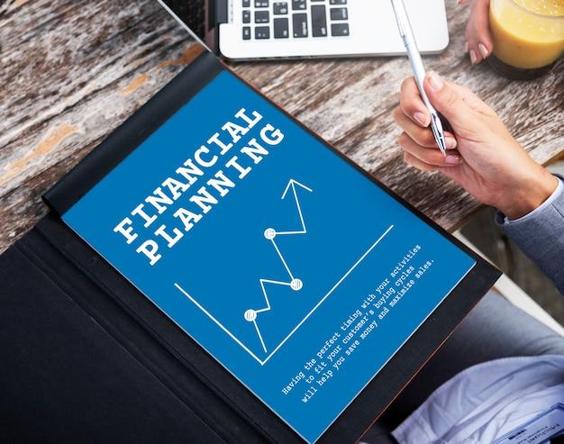 Graphique de l'investissement en économie boursière Photo gratuit