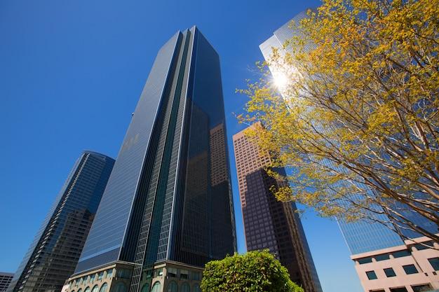 Gratte-ciel du centre-ville de los angeles Photo Premium