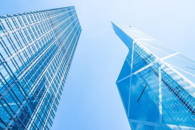 Gratte-ciel de l'entreprise dans la ville de hong kong Photo gratuit