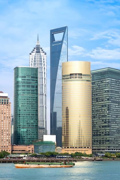 Gratte-ciel de shanghai Photo Premium