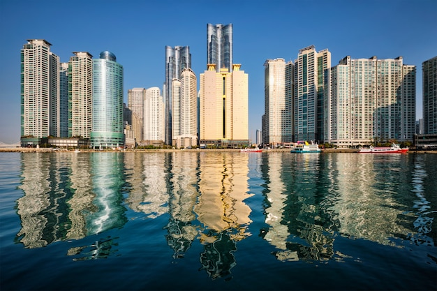 Gratte-ciel De La Ville Marine à Busan, Corée Du Sud Photo Premium