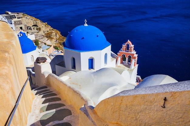 Grèce Traditionnelle - Incroyable île De Santorin Photo Premium