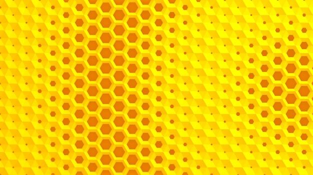 La Grille Blanche De Cellules En Forme De Nids D'abeilles Hexagonaux De Diamètre Différent, Qui Vont Du Plus Grand Au Plus Petit Et Inversement Photo Premium