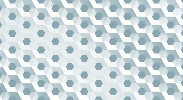 La grille blanche de cellules sous la forme de nids d'abeilles hexagonaux de diamètre différent, illustration 3d Photo Premium