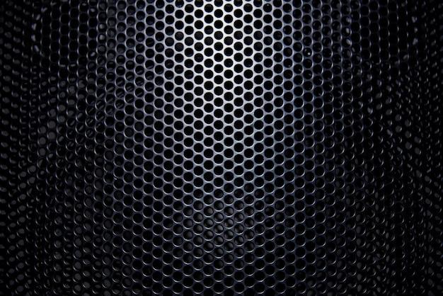Grille De Protection à Fond Noir Avec Lumière. Photo Premium