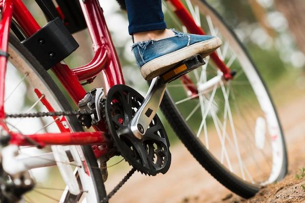 Gros angle bas du vélo Photo gratuit