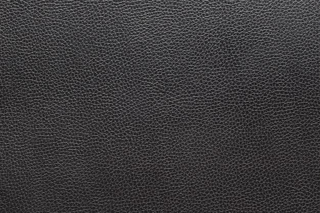 Gros fond de cuir noir et texture Photo Premium