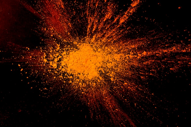Gros plan, abstrait, orange, poudre, peinture Photo gratuit