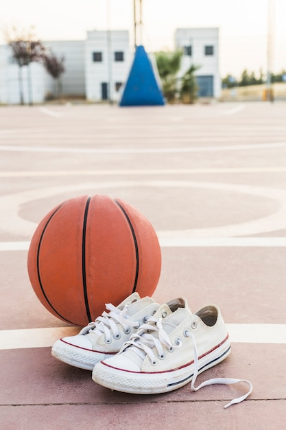 Gros plan, baskets, basket, tribunal Photo gratuit