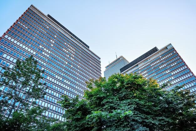 Gros Plan Sur Le Bâtiment Prudential à Boston Photo gratuit