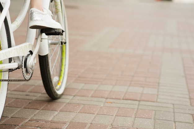 Gros plan, bicyclette, fond Photo gratuit