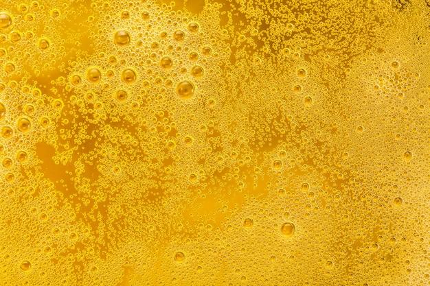 Gros Plan, Bière, Bulles, Mousse, Arrière-plan Photo Premium