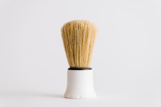 Gros plan, blaireau, isolé, blanc, fond Photo gratuit