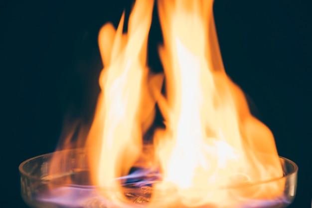 Gros Plan, Boisson, Brûler, Feu, Flamme Photo gratuit