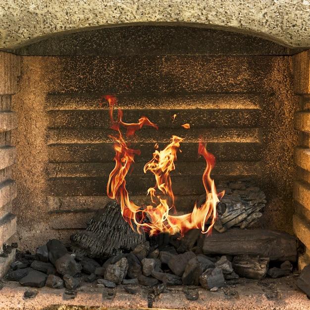 Gros plan, brûler, foyer Photo gratuit
