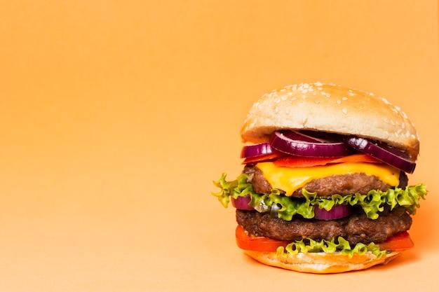 Gros plan, burger, copie, espace Photo gratuit