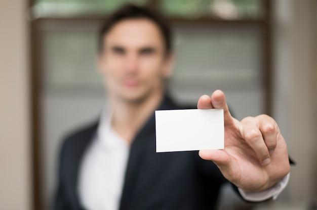 Gros plan, de, carte affaires, maquette Photo gratuit