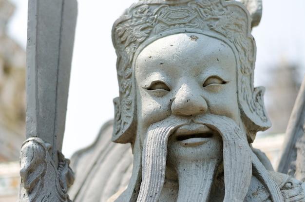 Gros plan, de, chinois, soldat, statue Photo Premium