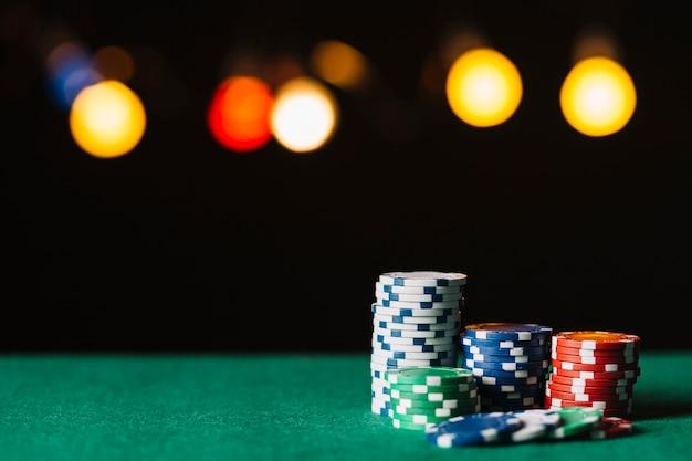 Gros plan, coloré, puces, poker, table Photo gratuit