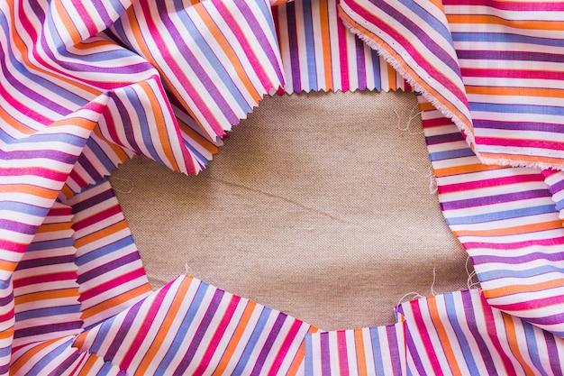 Gros plan, coloré, textile, formant, cadre Photo gratuit