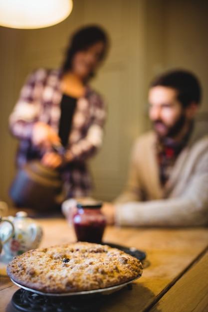Gros plan, cookie, table Photo gratuit
