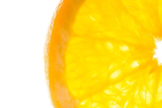 Gros plan, coupé, tranches, orange frais Photo gratuit