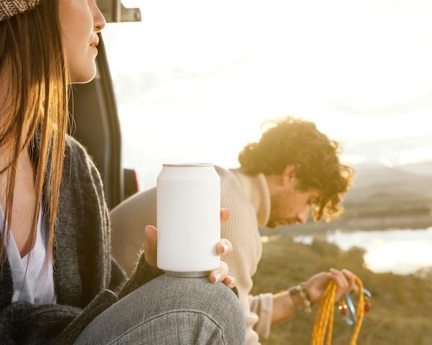 Gros Plan, Couple, Pendant, Road Trip Photo gratuit