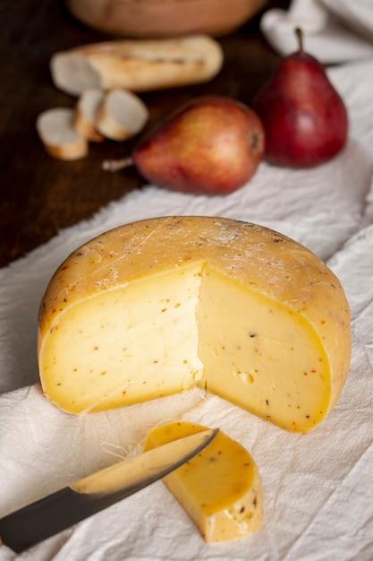Gros plan, délicieux, fromage, table Photo gratuit