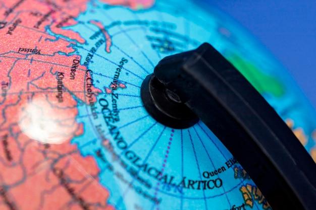 Gros Plan Du Globe Terrestre Photo gratuit