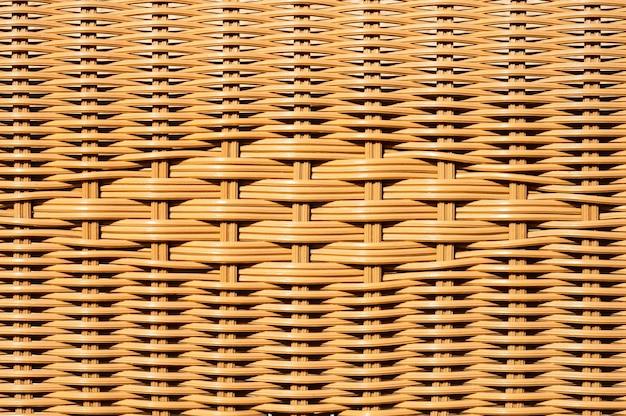 Gros Plan Du Panier En Osier Décoré Ou Chaise En Rotin Texturé Photo Premium