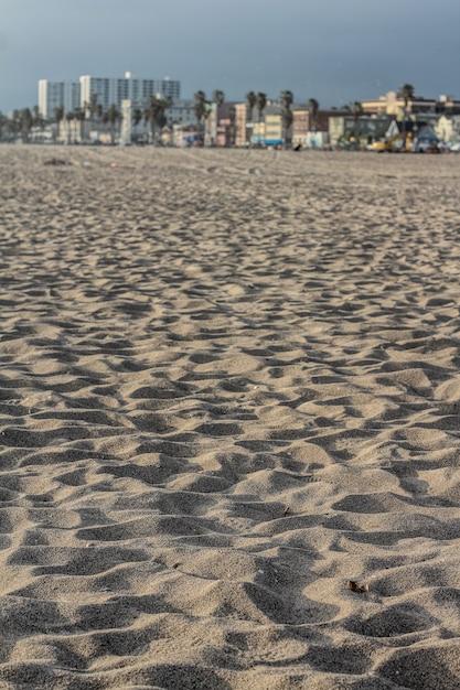 Gros Plan Du Sable Sur Une Plage En Californie Photo gratuit