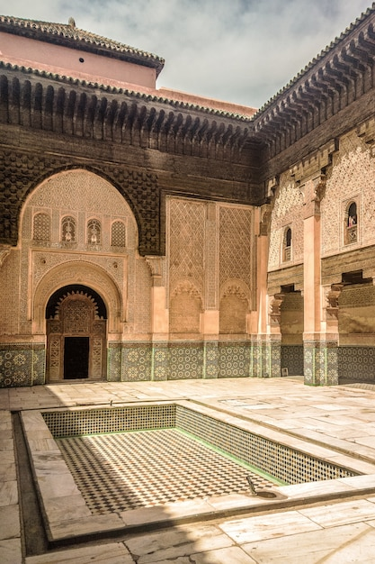 Gros Plan De L'école Fils De Joseph à Marrakech, Maroc Photo gratuit