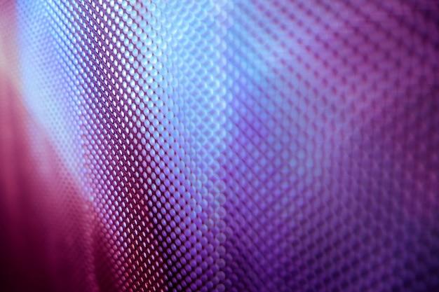 Gros Plan De L'écran Flou Led Photo Premium