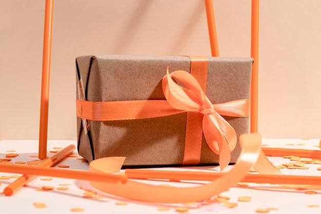 Gros Plan, Emballé, Boîte-cadeau, Sur, Table Photo gratuit