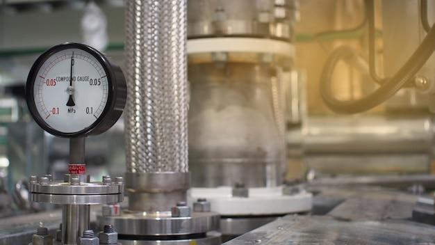 Gros plan d'équipement ou commande de vale pour usine pétrochimique, avenir technologique du système Photo Premium