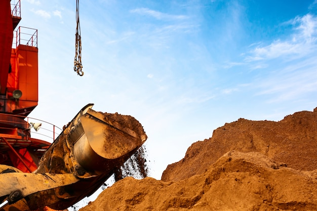 Gros Plan D'une Excavatrice De Chantier Photo gratuit