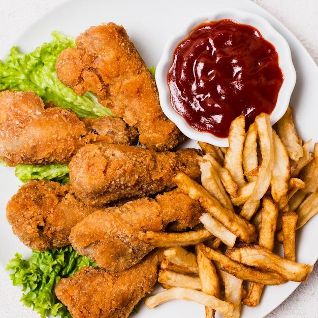 Gros plan, fast food, repas Photo gratuit