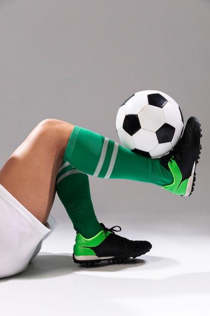 Gros plan, football, astuces Photo gratuit