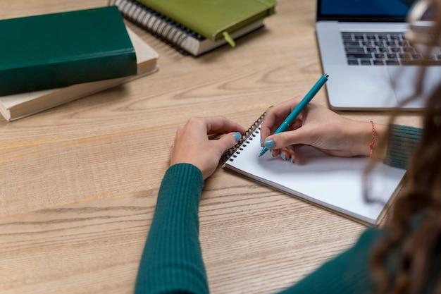Gros Plan, Girl, écriture, Cahier Photo gratuit