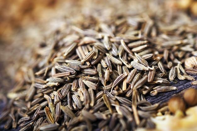 Gros plan de graines de fenouil Photo gratuit
