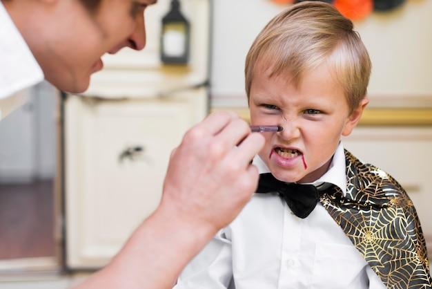 Gros Plan, Homme, Peinture, Visage Enfant Photo gratuit